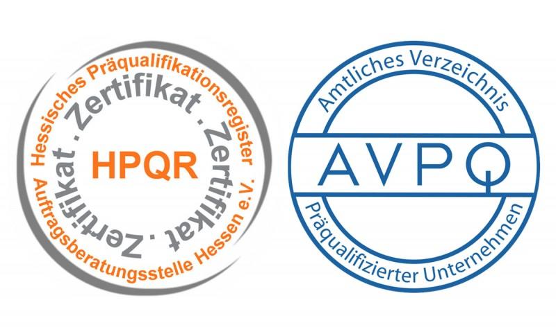 Präqualifizierung-Zertifikat für geistig-schöpferische Dienstleistungen