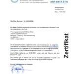 Zertifikat amtliches Verzeichnis präqualifizierter Unternehmen 06 006 DJZS4E